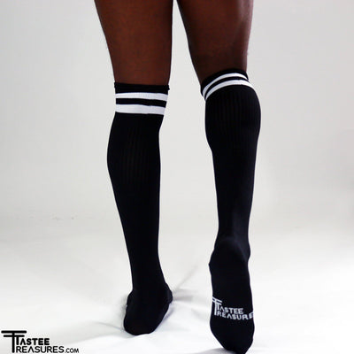 Midnight Mesh Knee High Socks Socks TasteeTreasures