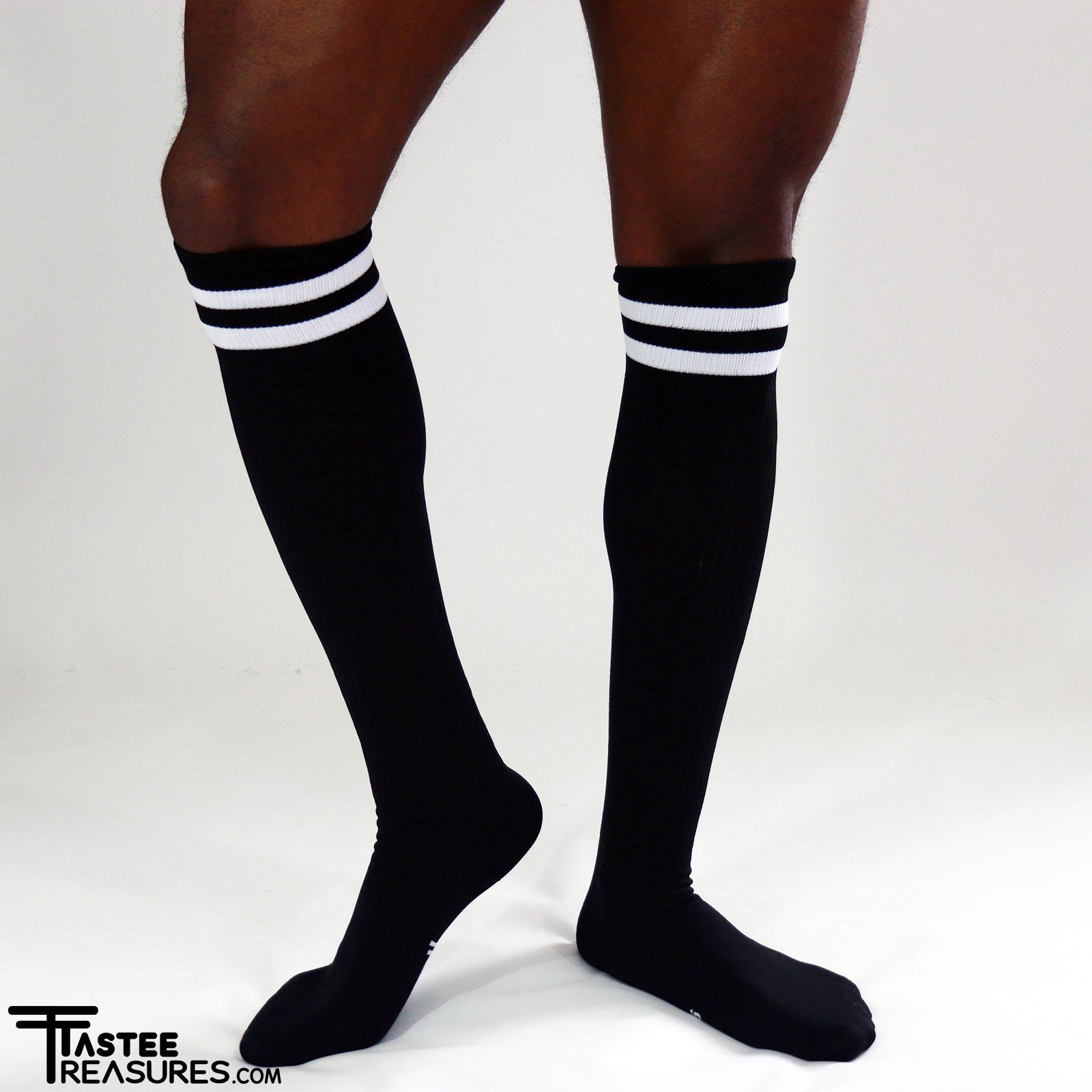 Midnight Mesh Knee High Socks Socks TasteeTreasures Black One Size Fits All