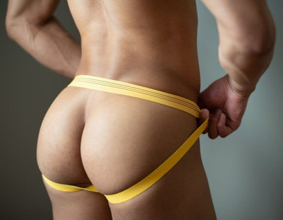 Hot Yellow Jockstrap Jockstraps TasteeTreasures 28in-30in