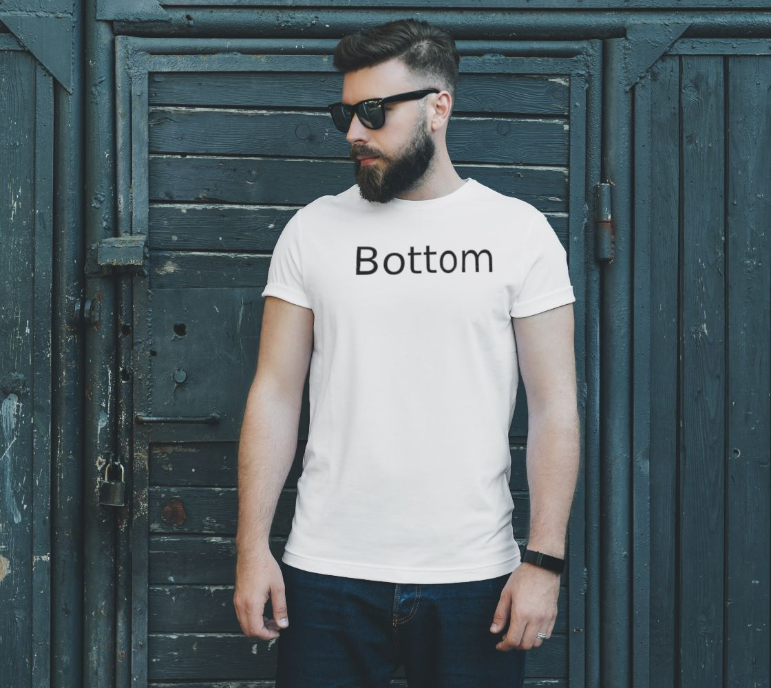 Men's Bottom T-Shirt Tops and Shirts TasteeTreasures