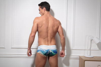 Mountain Valley Swim Trunks Swim Wear TasteeTreasures
