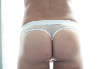 Sheer White Thong