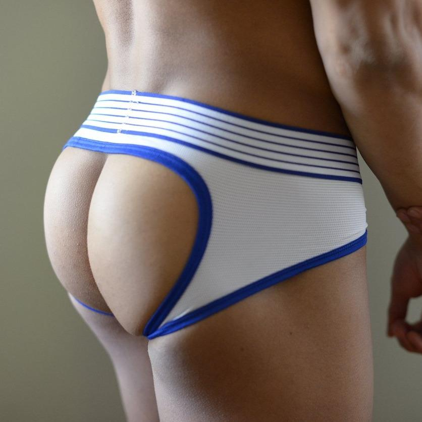 White Bottomless Briefs Briefs TasteeTreasures 28in-30in White