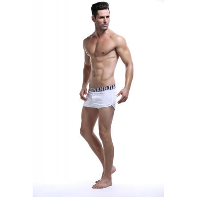 White Button Down Trunks Trunks TasteeTreasures