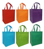 Insulated Tote Bags  (3), White + (6) Bright Reusable Grocery Totes Bag Set