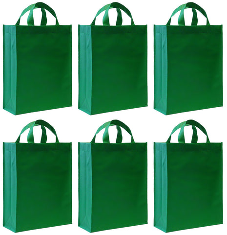 Gift Bags (6), Green [Large]