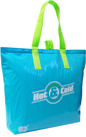 "CYMA Insulated Tote Bags - Insulated Tote Bag, 15""x12""+3"" Flat Bottom, Side View- Aqua Blue"