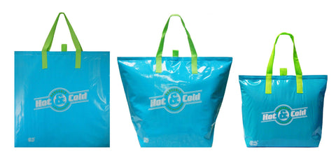 CYMA Insulated Tote Bags - Insulated Tote Bag, Variety, Aqua 3 Bag Set