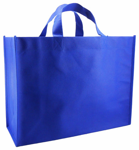CYMA Reusable Gift Bags - Reusable Gift Bags, Large-  6 Bag Set- Royal Blue