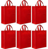 CYMA Reusable Gift Bags - Reusable Gift Bags, Medium- 6 Bag Set- Red