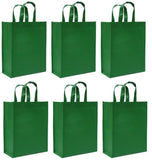 CYMA Reusable Gift Bags - Reusable Gift Bags, Medium- 6 Bag Set- Green