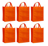 CYMA Reusable Gift Bags - Reusable Gift Bags, Medium- 6 Bag Set- Orange