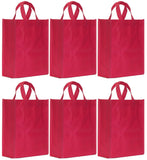 CYMA Reusable Gift Bags - Reusable Gift Bags, Medium- 6 Bag Set- Raspberry