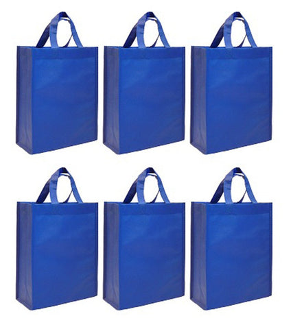 CYMA Reusable Gift Bags, Medium- 6 Bag Set- Royal Blue