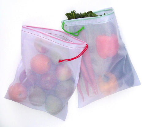 CYMA Reusable Produce Bags - Reusable Mesh Produce Bags- 6 Bag Set