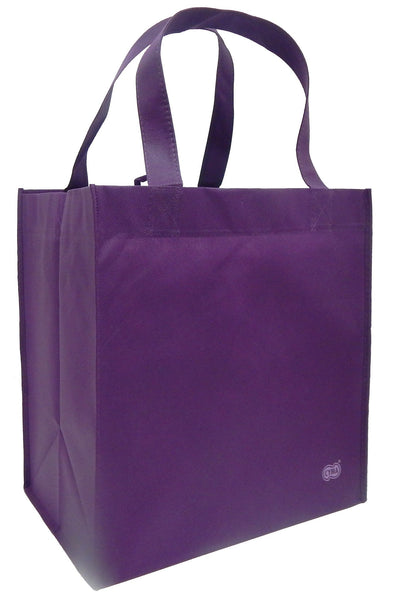 CYMA Reusable Tote Bags - Reusable Grocery Totes, Solid Color- 6 Bag Set- Purple