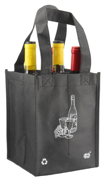 CYMA Reusable Wine Totes - Reusable 4 Bottle Tote