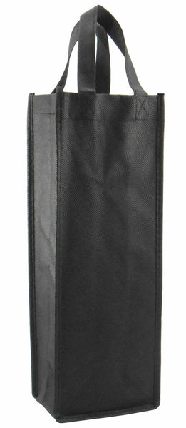 CYMA Reusable Wine Totes - Reusable Gift Bag, Single Bottle Tote-Black
