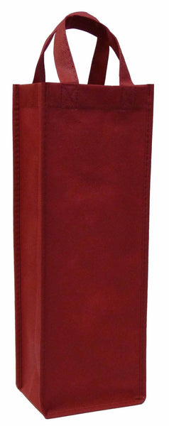 CYMA Reusable Wine Totes - Reusable Gift Bag, Single Bottle Tote-Burgundy