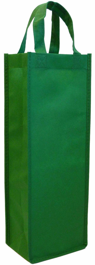 CYMA Reusable Wine Totes - Reusable Gift Bag, Single Bottle Tote- Green