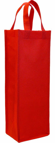 CYMA Reusable Wine Totes - Reusable Gift Bag, Single Bottle Tote-Red
