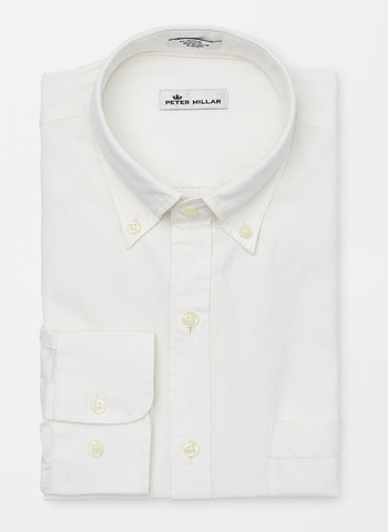 Garment-Dyed Solid Sport Shirt