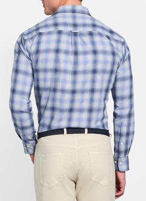 Mountain Fog Plaid Sport Shirt