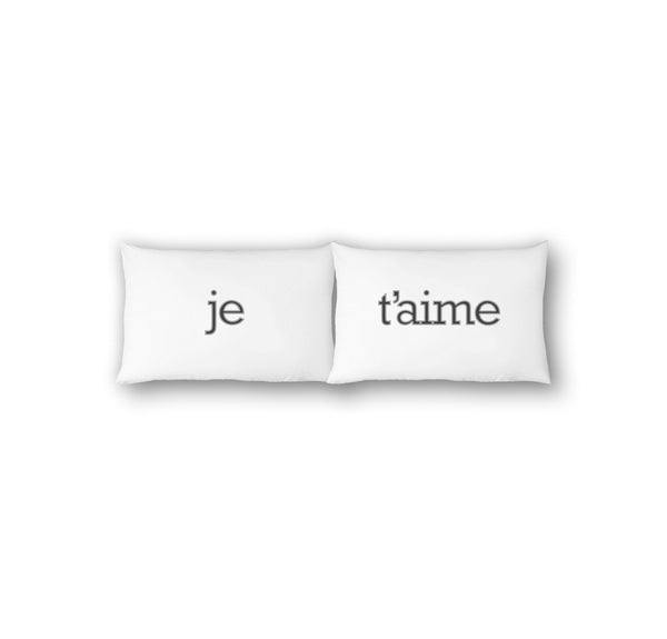 Je T'aime Pillowcase Set