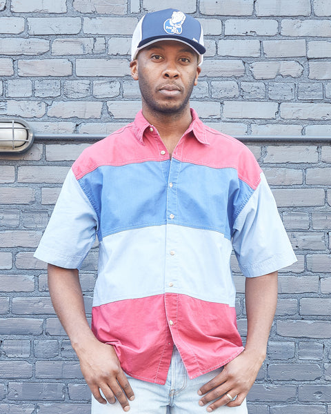 90s Impact Striped Button Up Shirt
