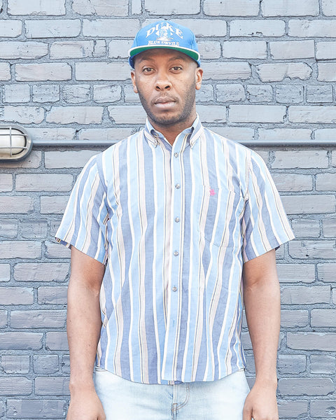 Knights of the Round Table Striped Button Up Shirt