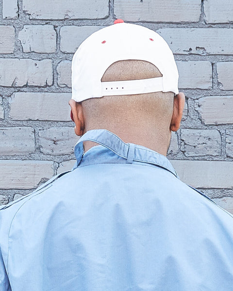 Red and White Blank Snapback