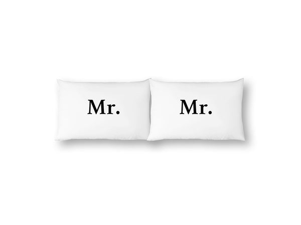Mr. & Mr. Pillowcase Set