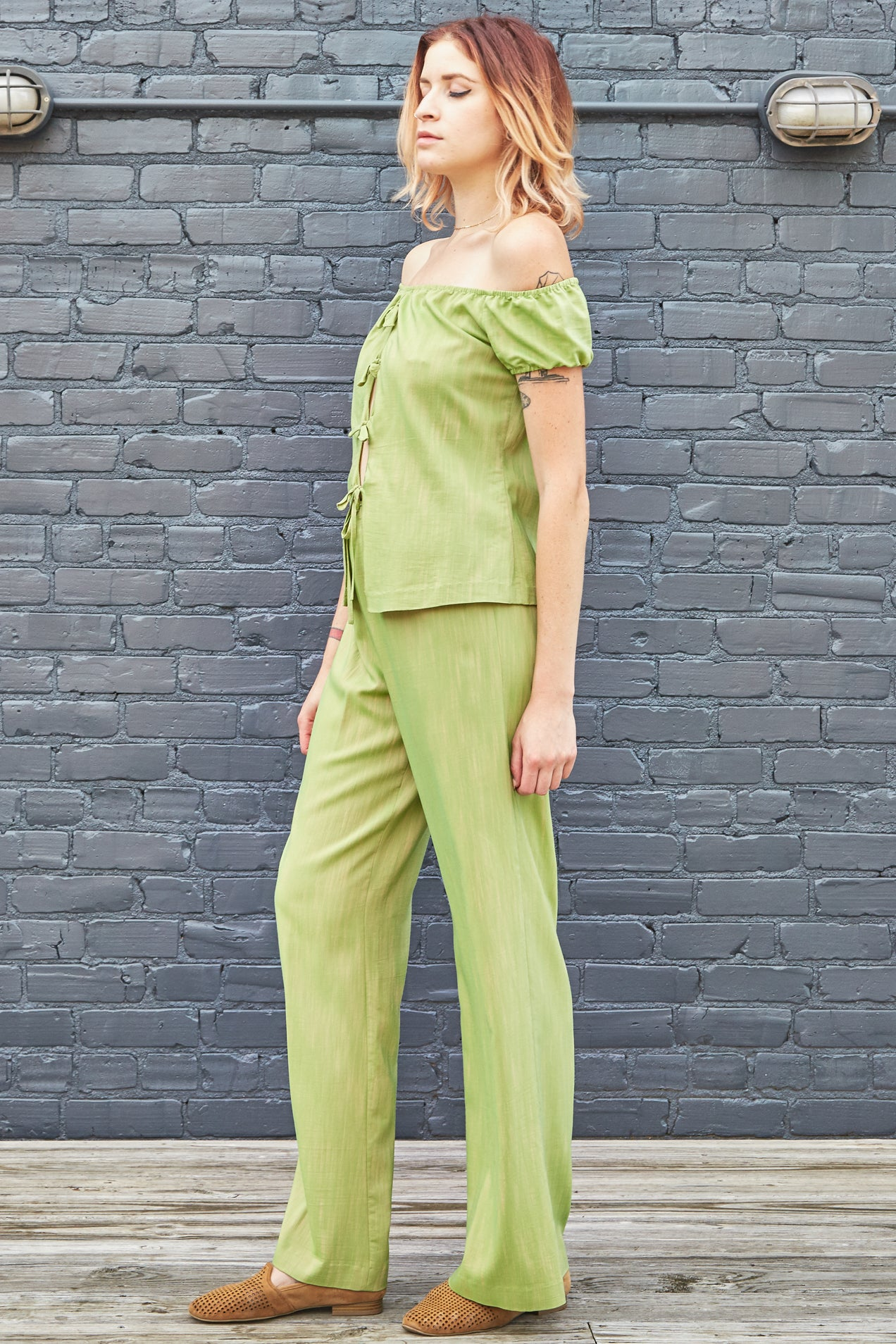 90s Vivienne Tam Color Shift Palazzo Set