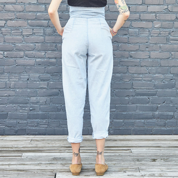 80s High Rise Pleated Jeans