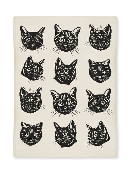 Black Cats Kitchen Towel