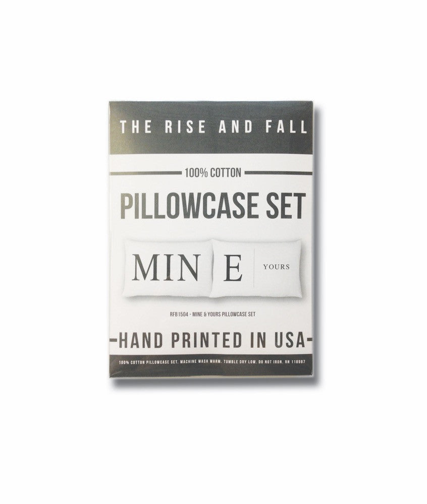 Mine + Yours Pillowcase Set