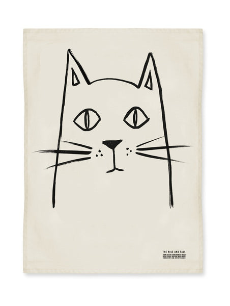 Painted Cat Kitchen Towel