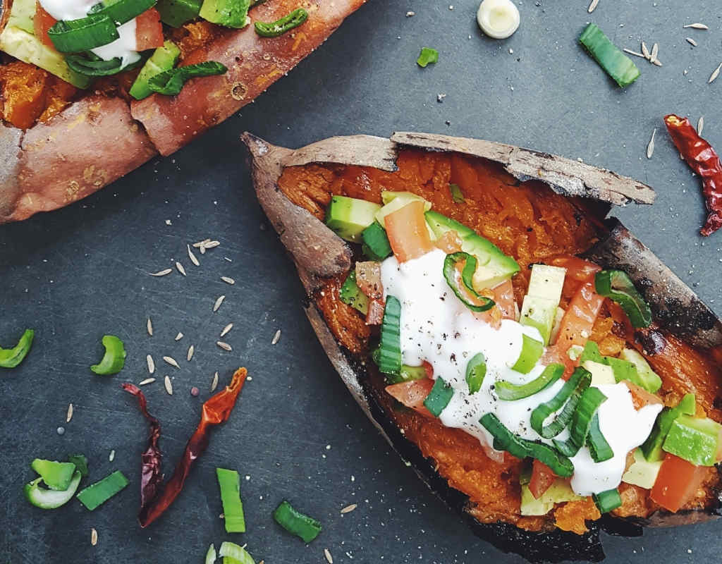 Baked Sweet Potatoes - Collagen Rich Food