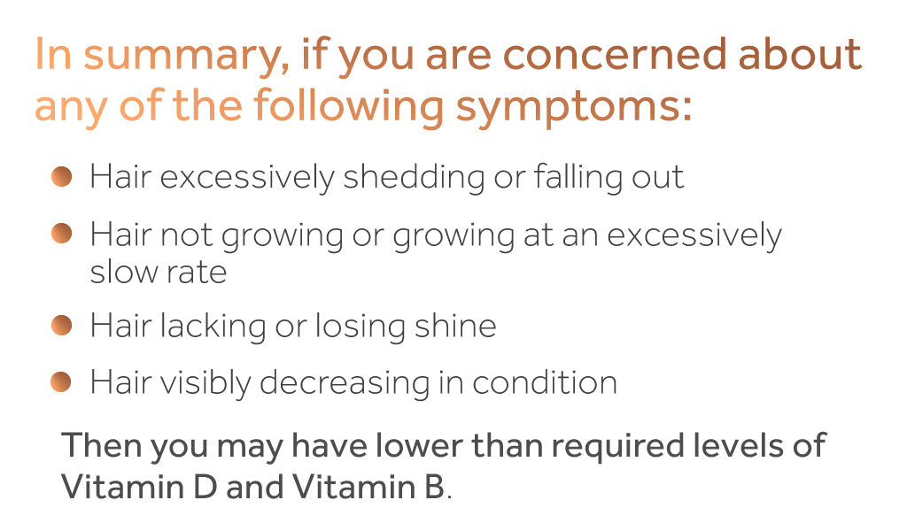 List of hair-related symptoms of vitamin deficiency