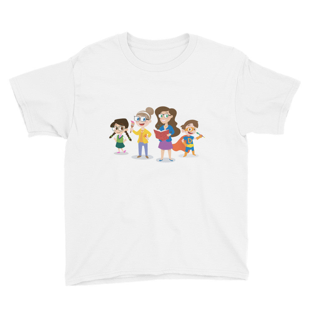 Cool School Characters - Youth Short Sleeve T-Shirt