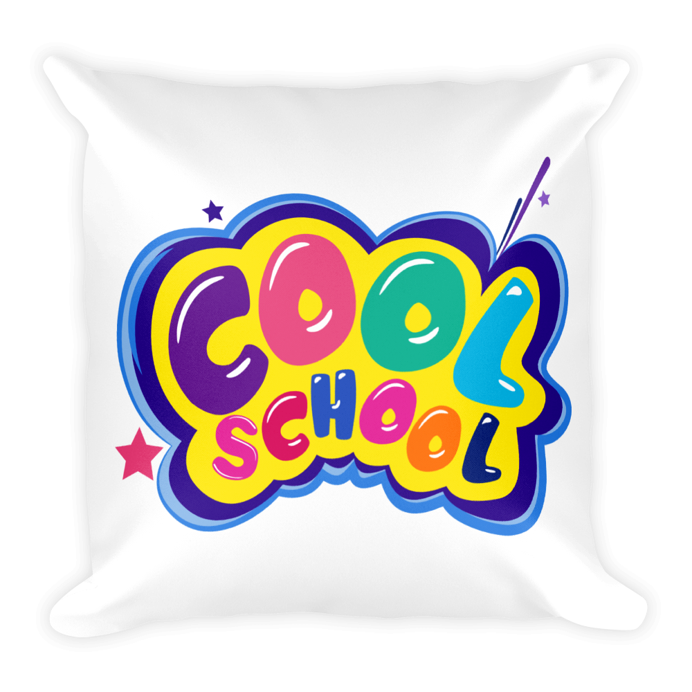 Cool School Logo - Square Pillow