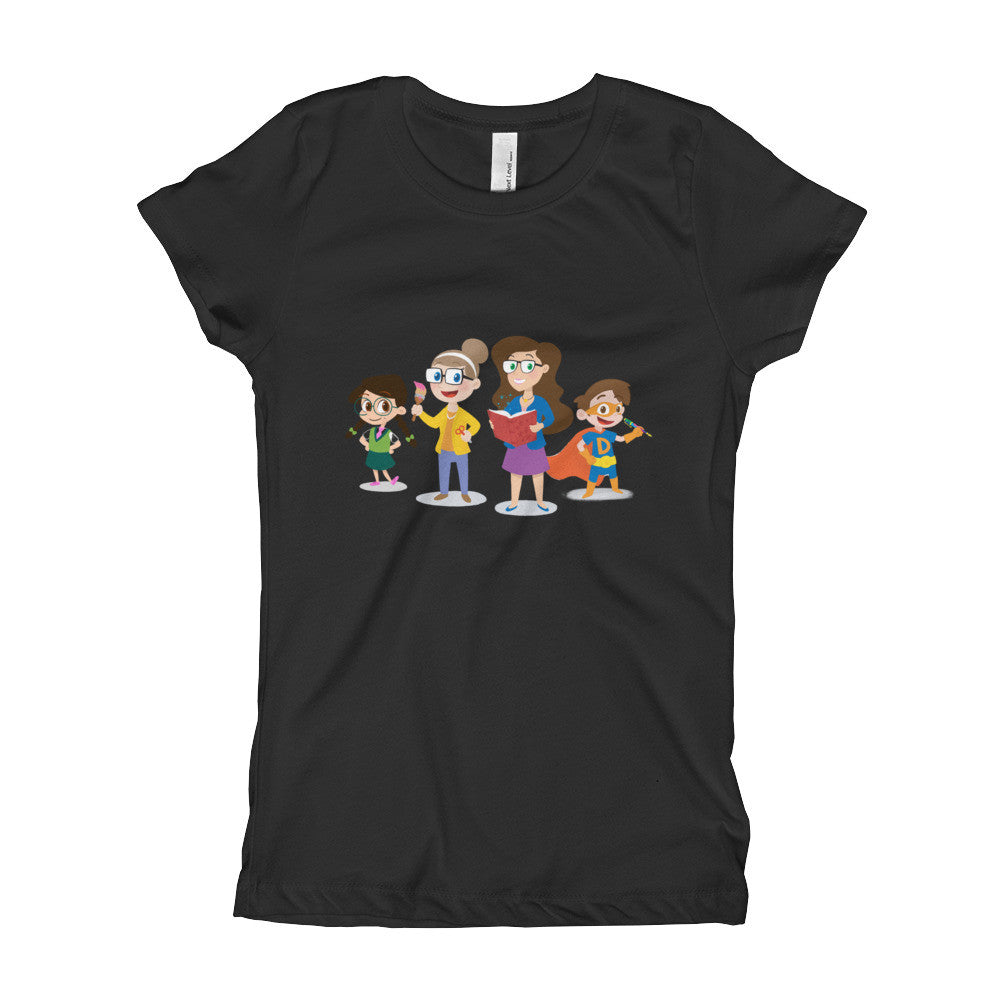 Cool School Characters - Girl's T-Shirt