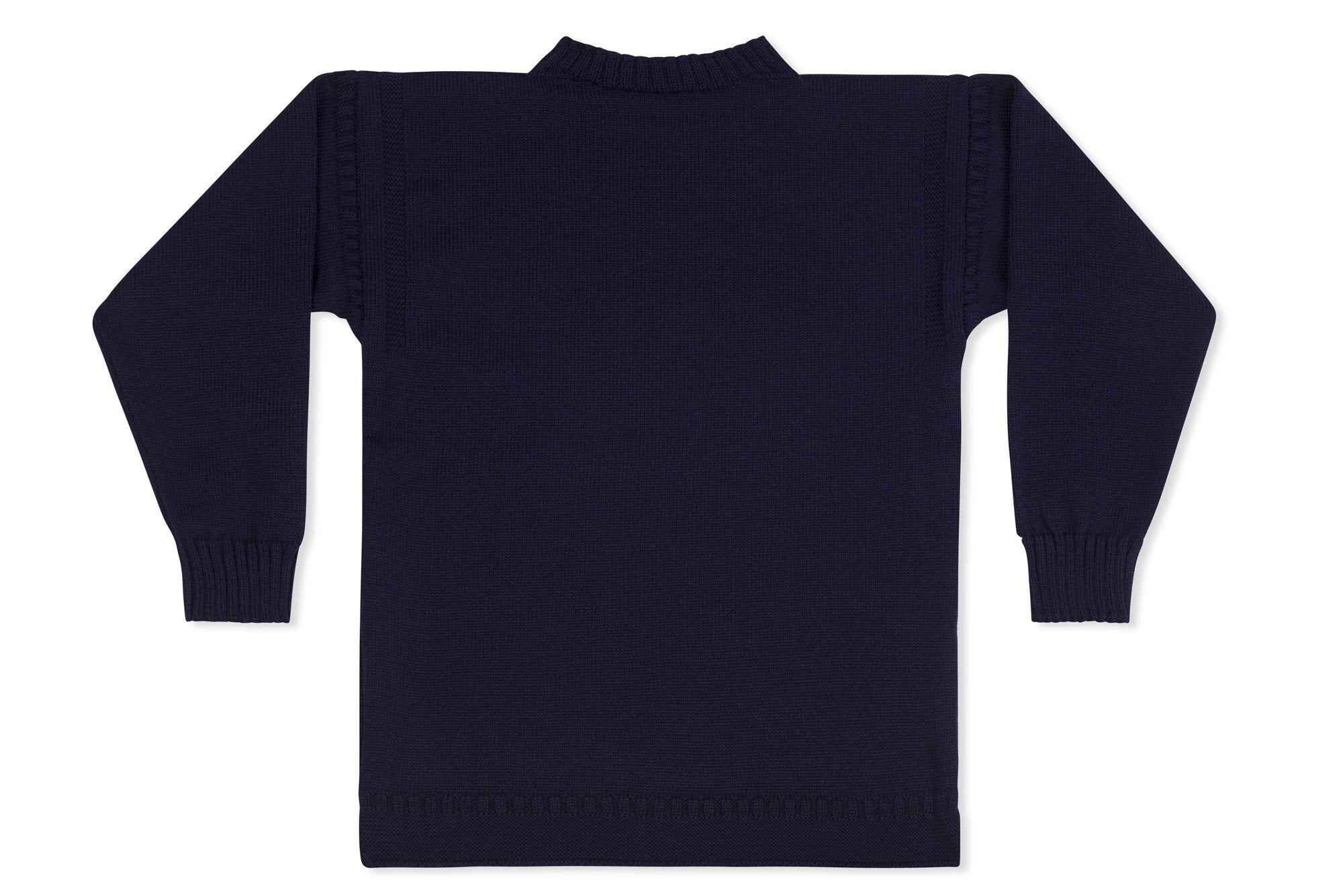 Traditional Guernsey Jumper For Kids In Navy