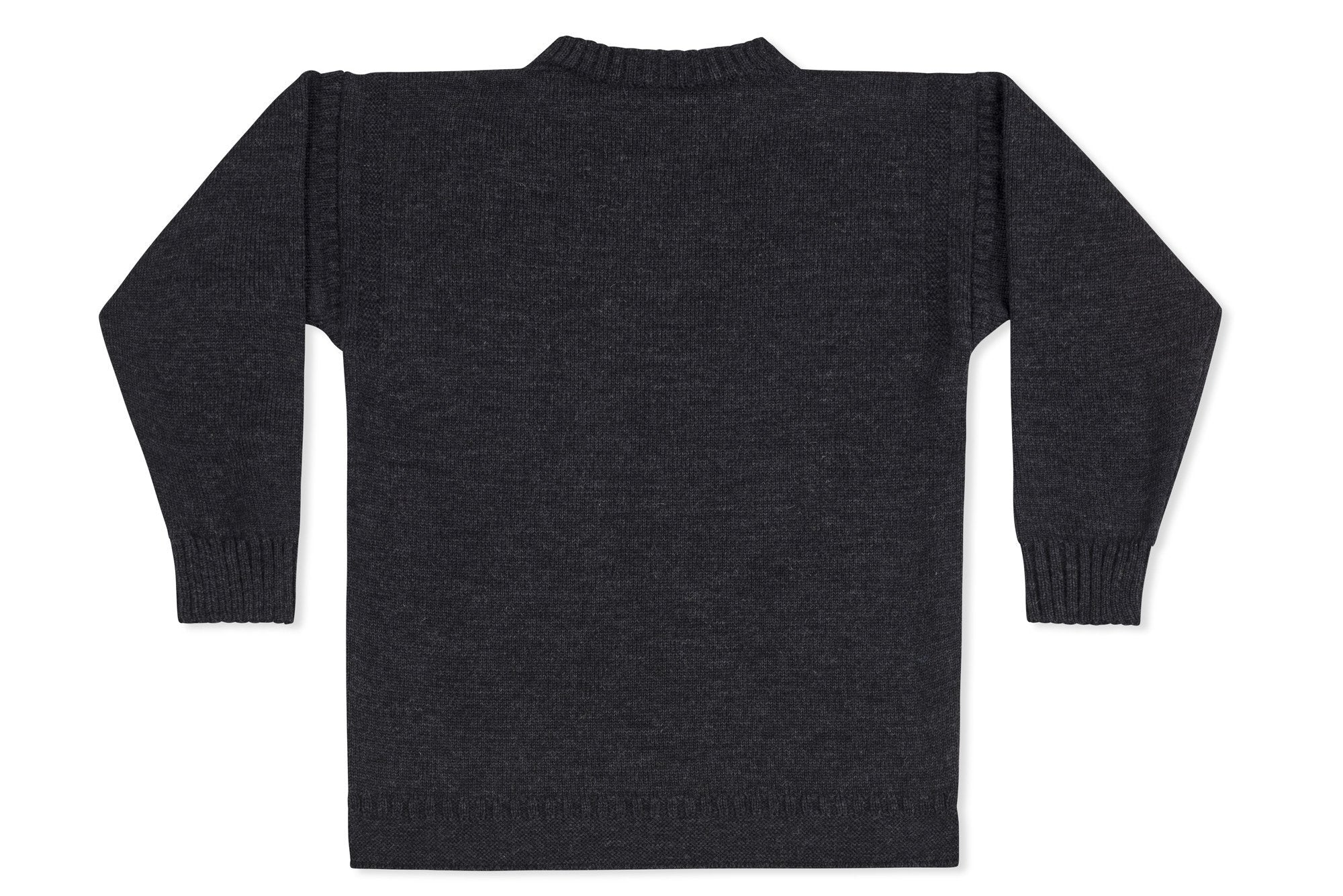 885ea594750 Traditional Guernsey Jumper In Charcoal