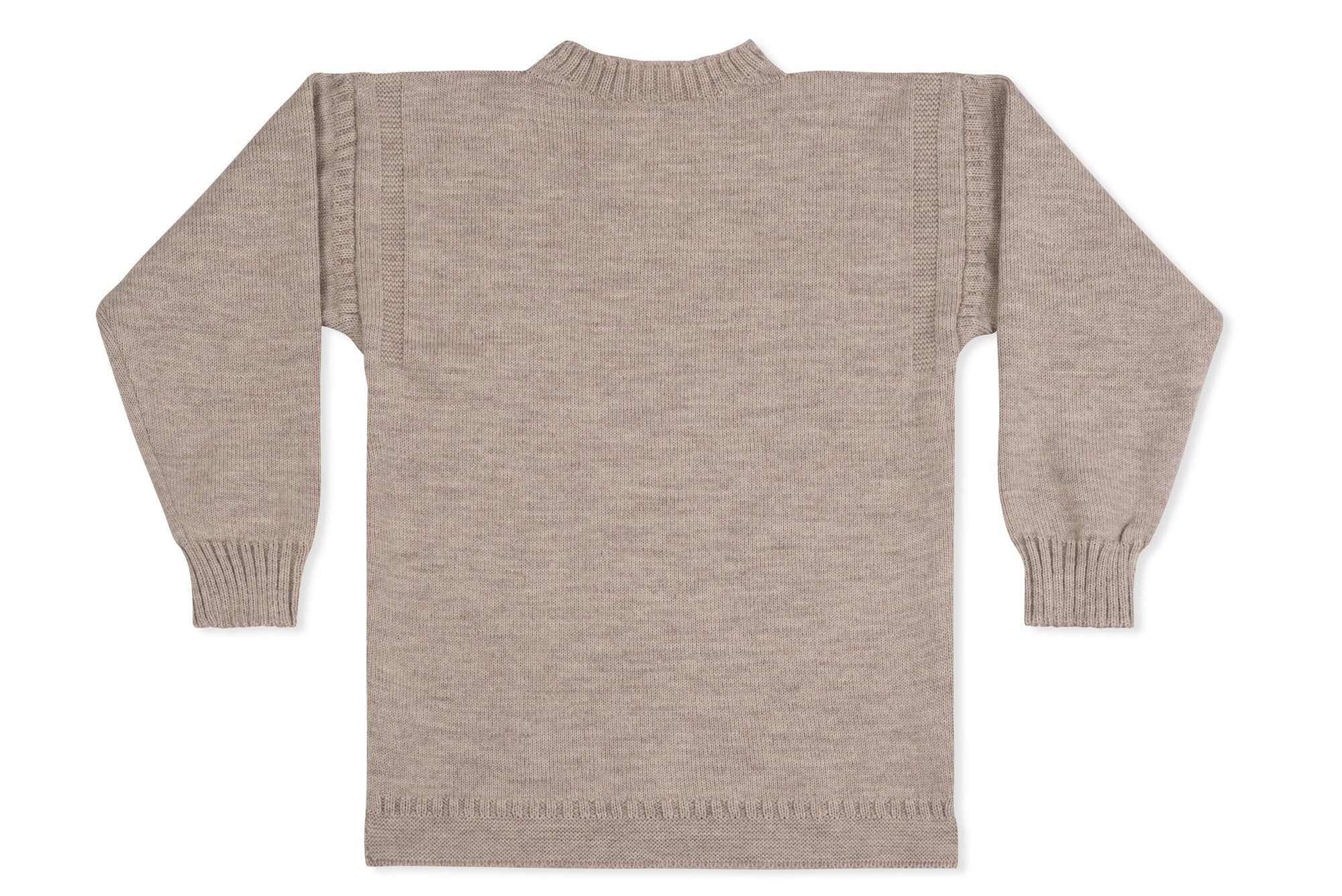 be9d0a92339 Traditional Guernsey Jumper In Oatmeal
