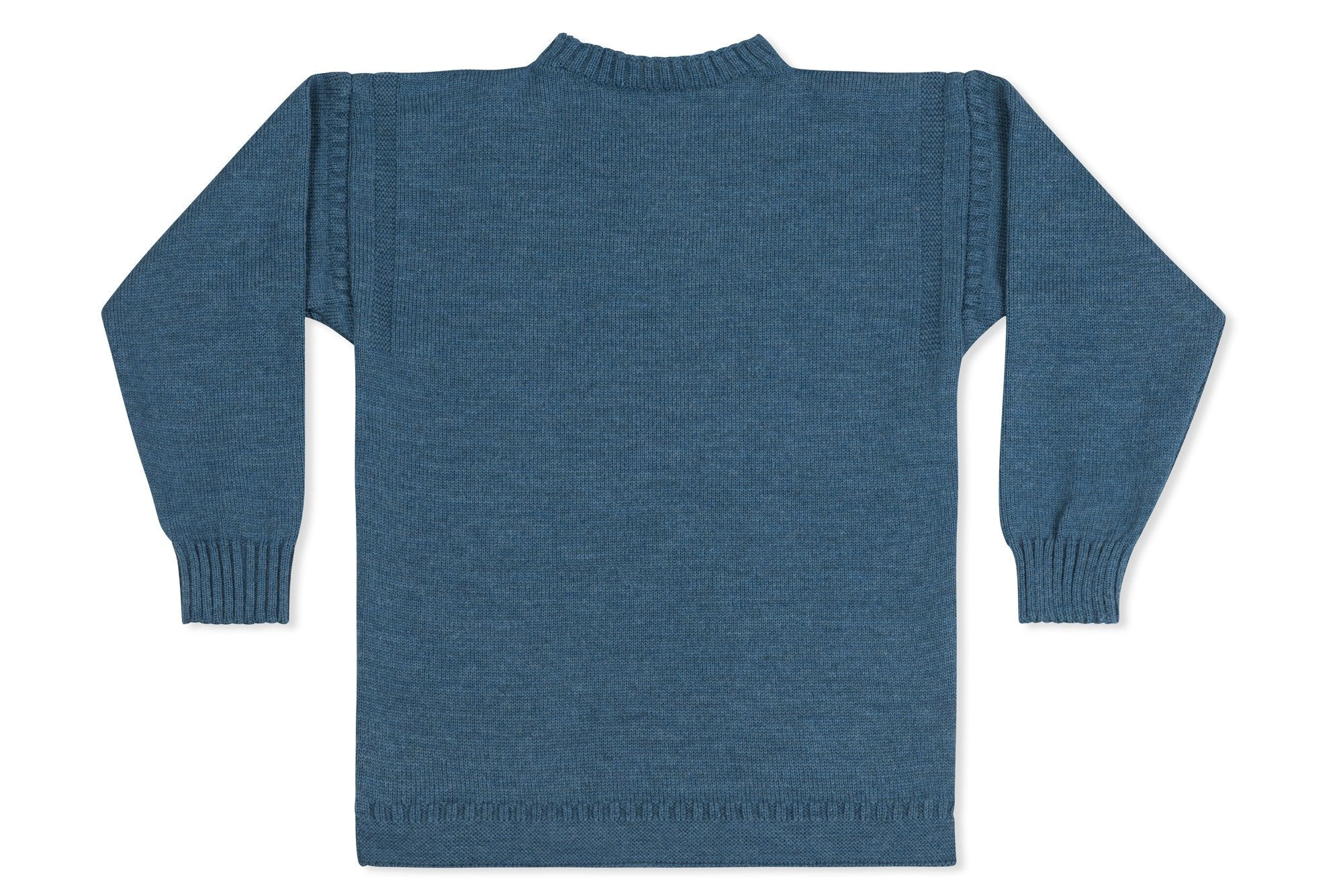 ed290b95c Jersey Crew Neck Jumper With Anchor Motif In Navy - Guernsey ...