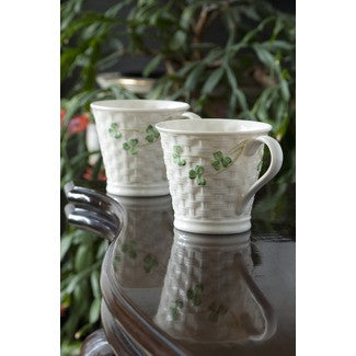 Basketweave Mugs (Set of 2)