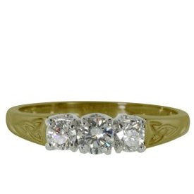 3 Stone Trinity Diamond Ring