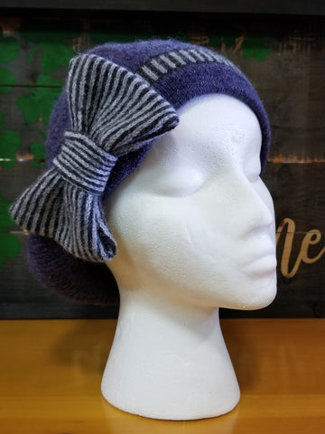 Bow Hat - Denim