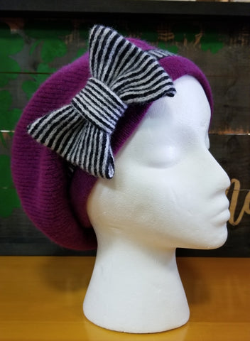 Bow Hat - Fuchsia